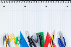 Set of school supplies for education. Stock Image