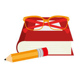 set school supplies icons Royalty Free Stock Photo