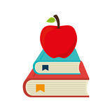 Set school supplies icons Stock Image