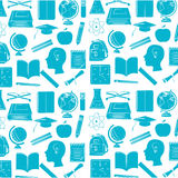 Set school supplies icons Stock Photography