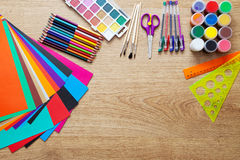 Set of school supplies Royalty Free Stock Image