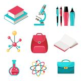 Set of school supplies. A set of school supplies. Vector Stock Image