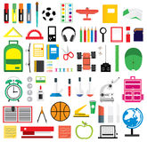 Set of school supplies. Vector illustration. Stock Image