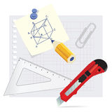 Set school supplies Royalty Free Stock Photography