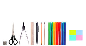 Set of school supplies Royalty Free Stock Photos