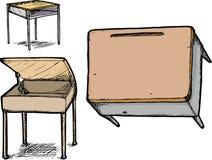 Set Schule-Schreibtische Lizenzfreie Stockfotografie