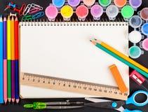 Set Schulebriefpapier Stockfoto