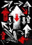 Set schwarze Pfeile Stockbild