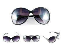Set schwarze Sonnenbrillen Lizenzfreies Stockfoto