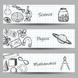 Set of Science Banners Stock Photography