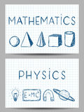 Set of Science Banners Stock Photo