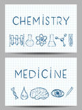 Set of Science Banners Royalty Free Stock Image