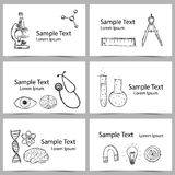 Set of Science Cards Royalty Free Stock Photo