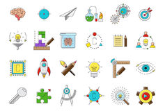 Set of science  icons. Set of 24 science  icons Stock Photo