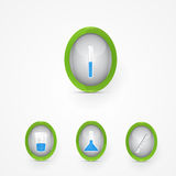 Set of science icons Royalty Free Stock Photography