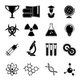 Set of science icons Royalty Free Stock Images