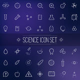 Set Science Physics Chemistry Medicine Trendy Icon Stock Photo