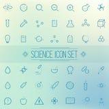 Set Science Physics Chemistry Medicine Trendy Icon Royalty Free Stock Photo