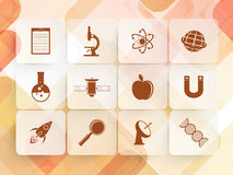 Set of Science signs and symbols. Royalty Free Stock Photos