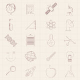 Set of Science signs and symbols. Royalty Free Stock Photography