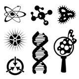 Set of science stuff icon Lab cartoon icon vector Stock Photography
