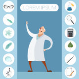 Set of sciense icons Stock Photography