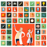 Set of sciense icons Stock Images
