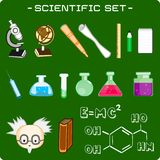 Set of scientific icons Stock Photography