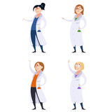 Set of scientist women Stock Photo