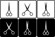 Set with scissors Royalty Free Stock Photos