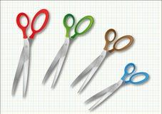 Set of scissors Stock Photo