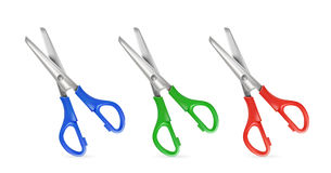 Set of scissors. On white background, illustration Royalty Free Stock Image