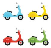 Set of scooters  on white background. Vector illustrations. Stock Photo