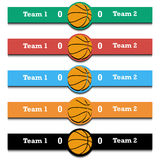 Set score of the basketball match Stock Images