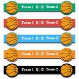 Set score of the basketball match Stock Image
