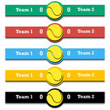 Set score of the tennis match Royalty Free Stock Photography