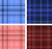 Set of Scottish plaid textures Stock Image