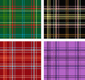 Set of Scottish plaid textures Royalty Free Stock Photos