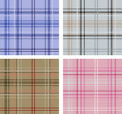 Set of Scottish plaid textures. Set of textures of various Scottish plaid textures Stock Images