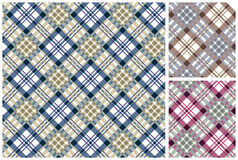 Set of  scottish style textile Stock Photos