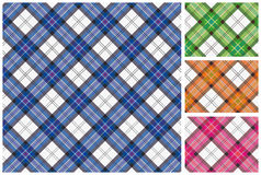 Set of  scottish style textile Royalty Free Stock Photos