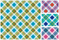 Set of  scottish style textile Royalty Free Stock Photography