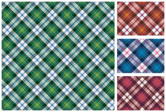Set of  scottish style textile Royalty Free Stock Images
