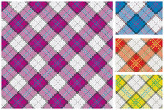Set of  scottish style textile Stock Photography