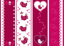 Set for scrapbook with birds. Royalty Free Stock Image