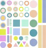 Set of scrapbook design elements - frames, buttons Royalty Free Stock Image
