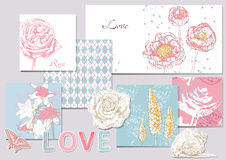 Set of scrapbook design elements Stock Photo