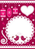 Set for scrapbook with doily. Royalty Free Stock Images