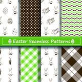 Set of scrapbook Easter seamless patterns Stock Photography