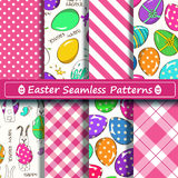 Set of scrapbook Easter seamless patterns Royalty Free Stock Photo